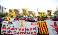Manifestación en Valencia contra la sentencia del 'procés'