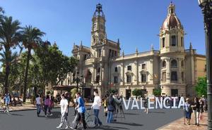 La plaza del Ayuntamiento de Valencia será peatonal a partir del 20 de marzo