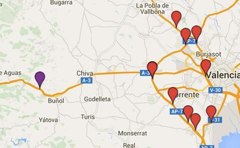 Dos radares de Valencia, segundo y tercero que más multan en España