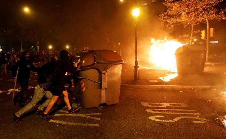 Tercera jornada de protestas en Cataluña tras la sentencia del 'procés'