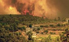 El fuego de Cortes contaminó como un tercio de los coches de la región