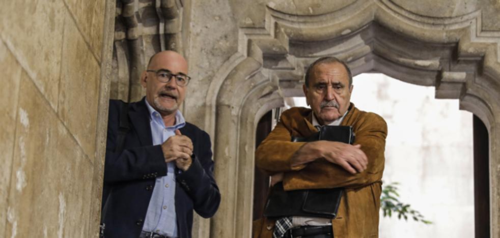 Climent, recibido en el Palau de la Generalitat Valenciana tras clamar contra la sentencia del procés