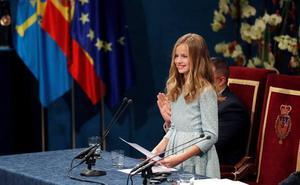 Así ha sido el primer discurso íntegro de la Princesa Leonor: «Hoy ha sido un día muy importante en mi vida»