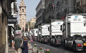 Una marcha lenta de camiones recorrerá este sábado el centro de Valencia
