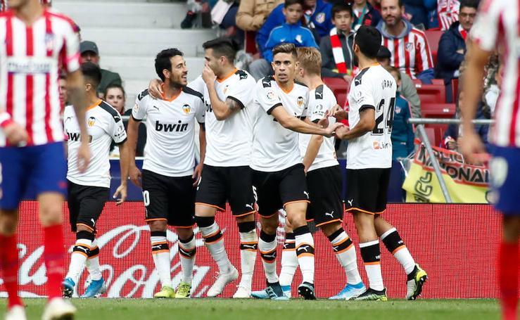 El Atlético de Madrid-Valencia, en imágenes
