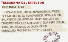 Telegrama para Rosa Pérez