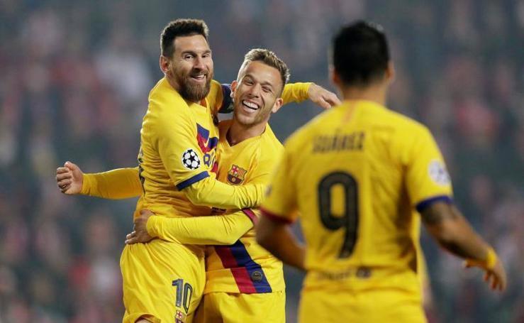 Las mejores imágenes del Slavia-Barcelona