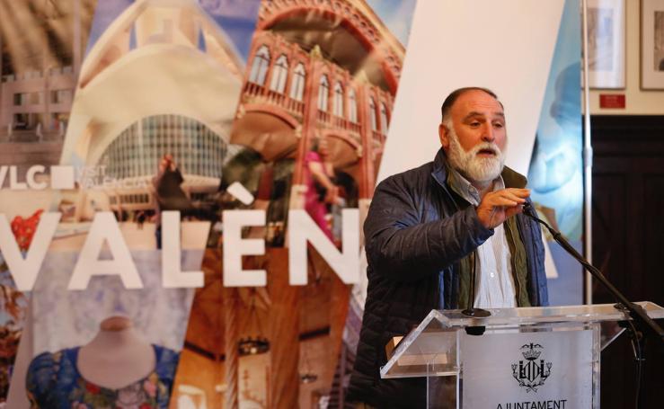 El chef José Andrés, 'Embajador de la paella' del Ayuntamiento de Valencia