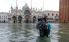 Venecia, afectada por una marea alta histórica