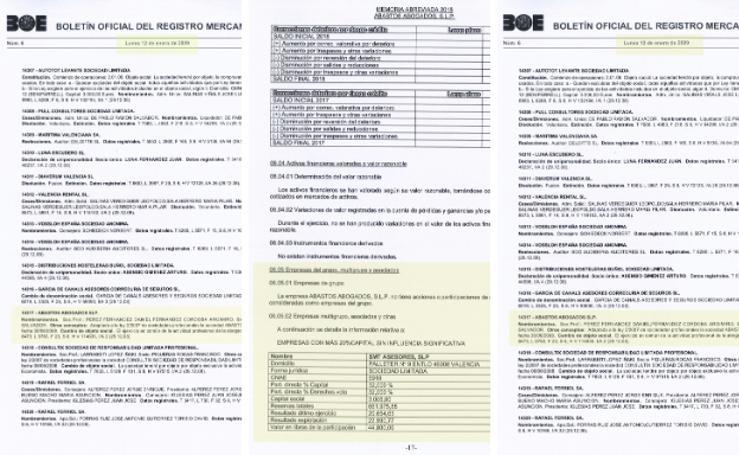 Los documentos del secretario de la EMT y el cuñado de Ribó