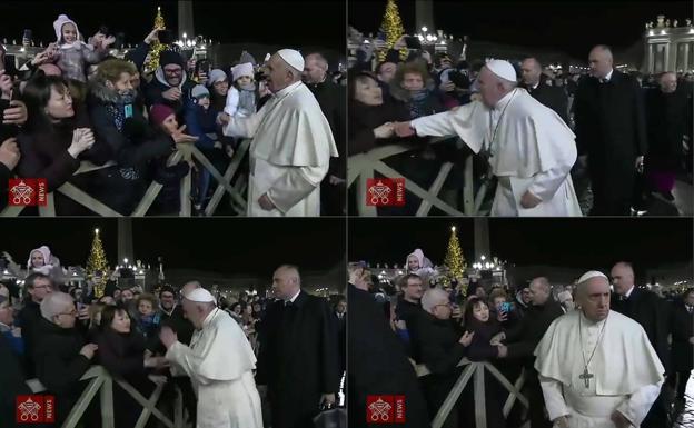 """El """"manotazo"""" del Papa"""