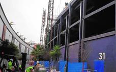 Avanzan los pilares de la nueva cubierta