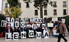 Fotos de las manifestaciones contra la discriminación del castellano