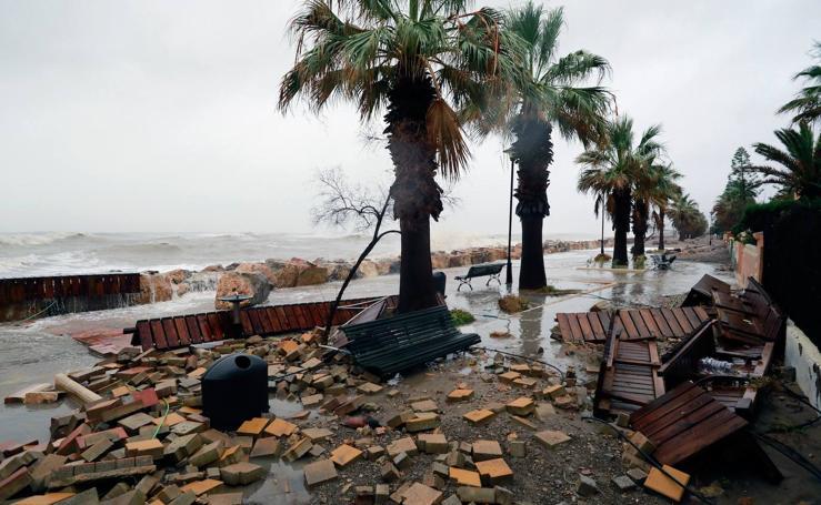 El temporal 'Gloria' castiga Valencia