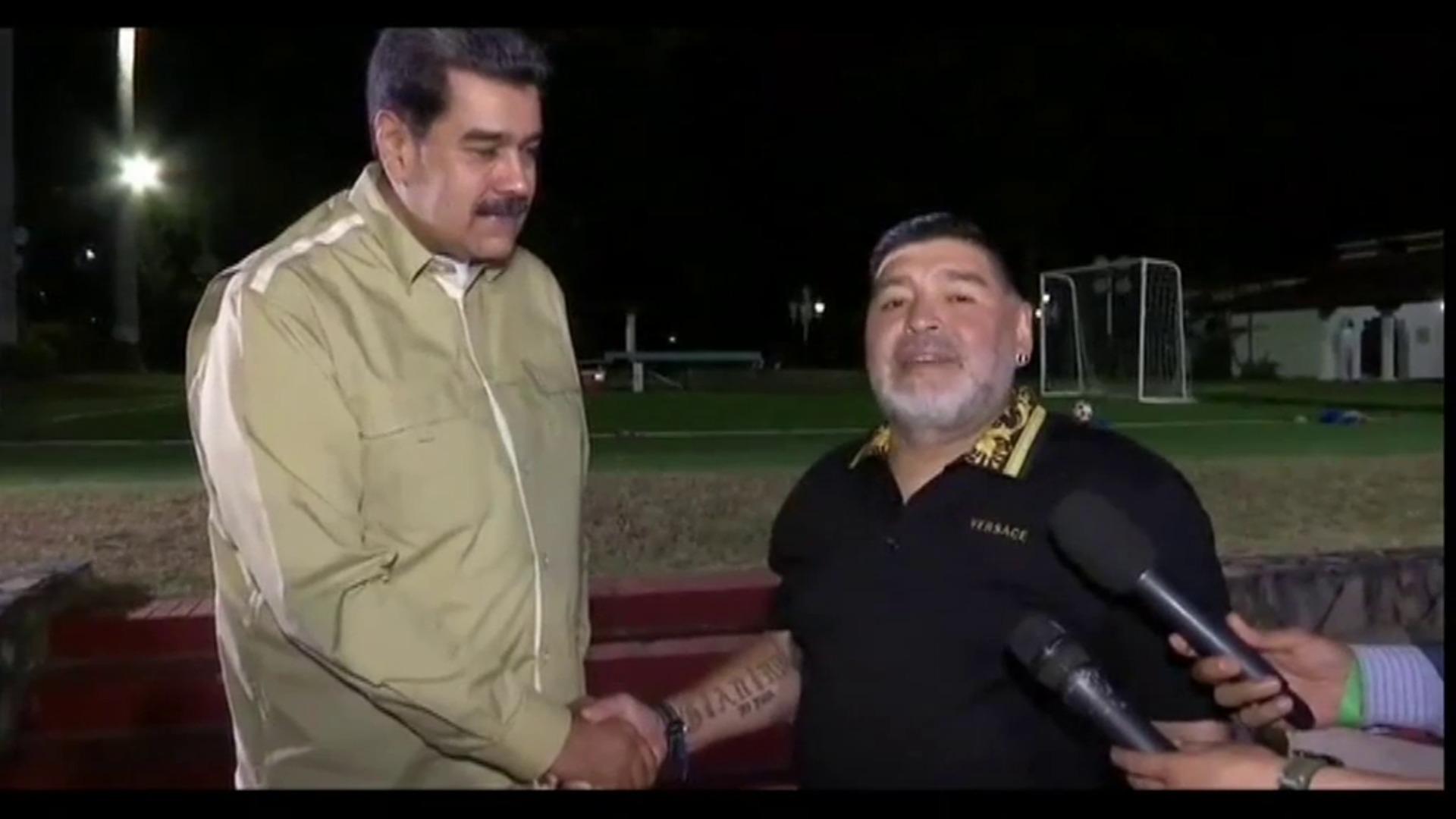 Maduro y Maradona vuelven a mostrar su gran amistad