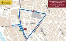 Calles cortadas en Valencia por la Galápagos 2020: horario y recorrido de la carrera popular