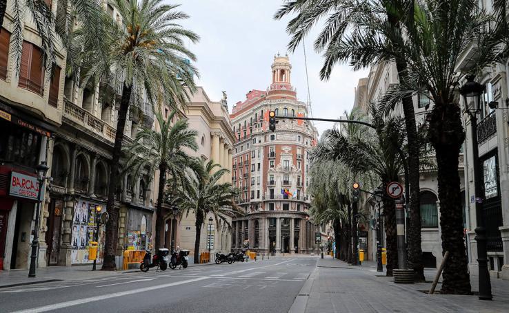 Valencia desierta por el estado de alarma