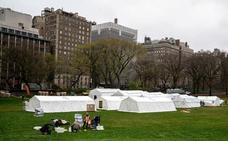 Central Park como nunca lo habías visto: así es su hospital campaña