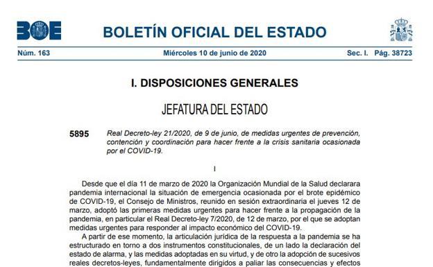 El BOE publica el decreto de la nueva normalidad en España: la letra pequeña de cómo será la nueva fase