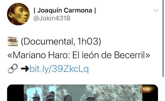 El último tuit que publicó Joaquín Carmona fue desde la estación de Atocha de Madrid.