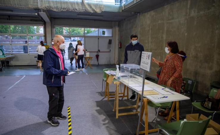 La jornada electoral en el País Vasco, en imágenes