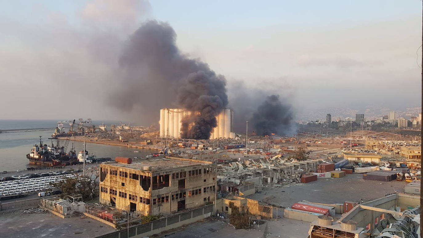Strong explosion in the port of Beirut