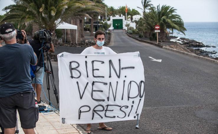 Pedro Sánchez inicia sus vacaciones en Tenerife