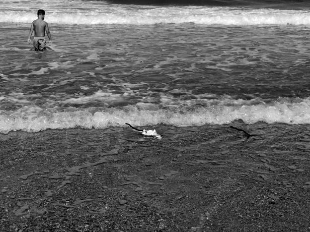 Hierros en la playa de El Saler, ayer. /LP