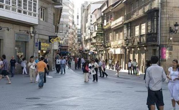 Calle peatonal en Pontevedra