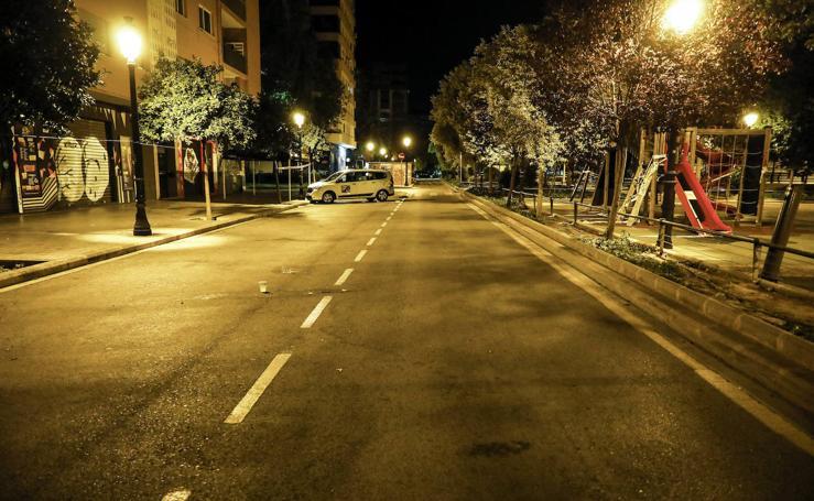 Valencia, bajo el toque de queda