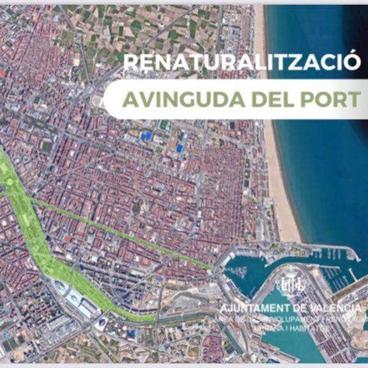 Así será la nueva avenida del Puerto de Valencia
