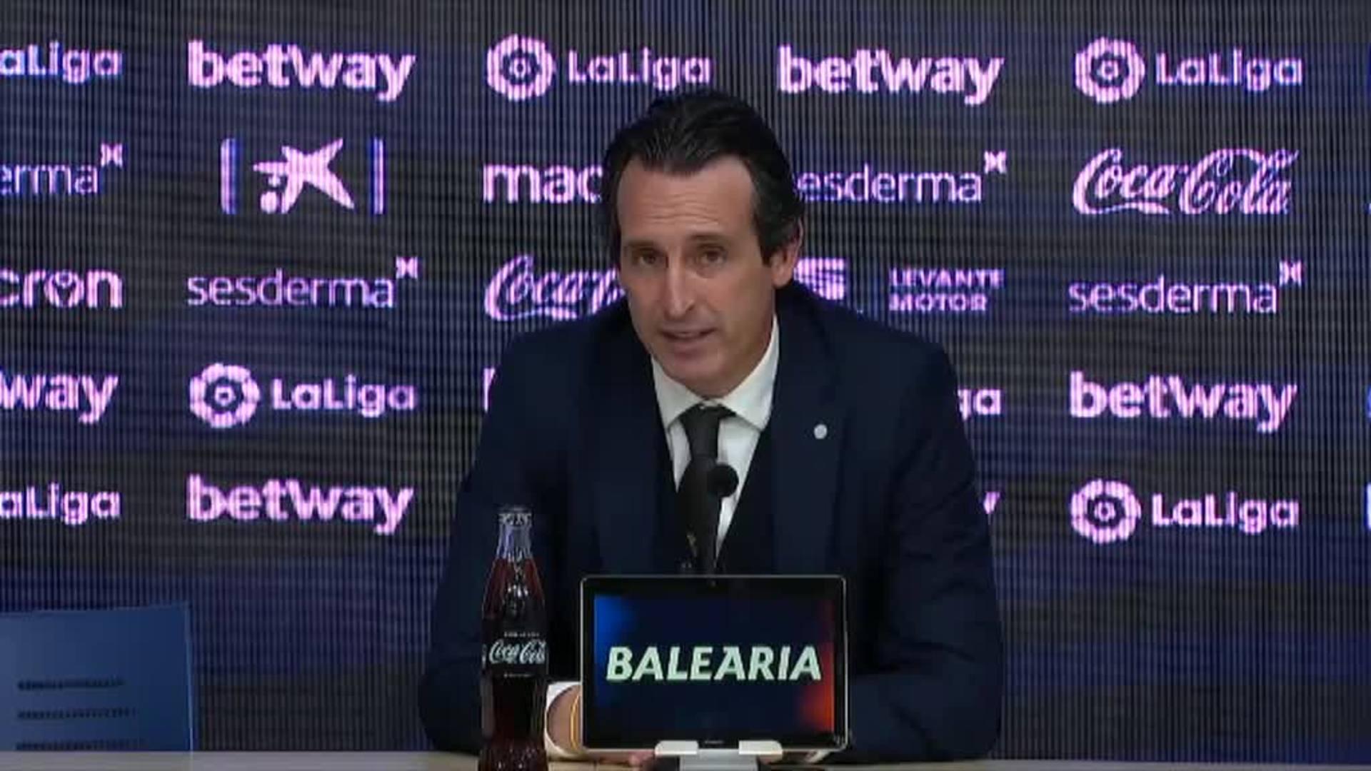"""Emery: """"Un resultado como el de hoy nos genera confianza"""""""