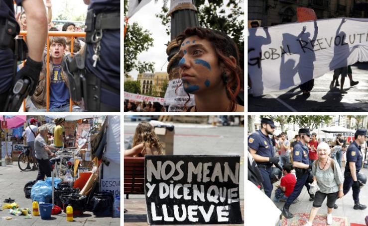 Fotos del 15-M: 10 años del movimiento en Valencia