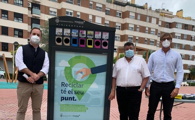 Nuevo punto de reciclaje en Alzira. /lp
