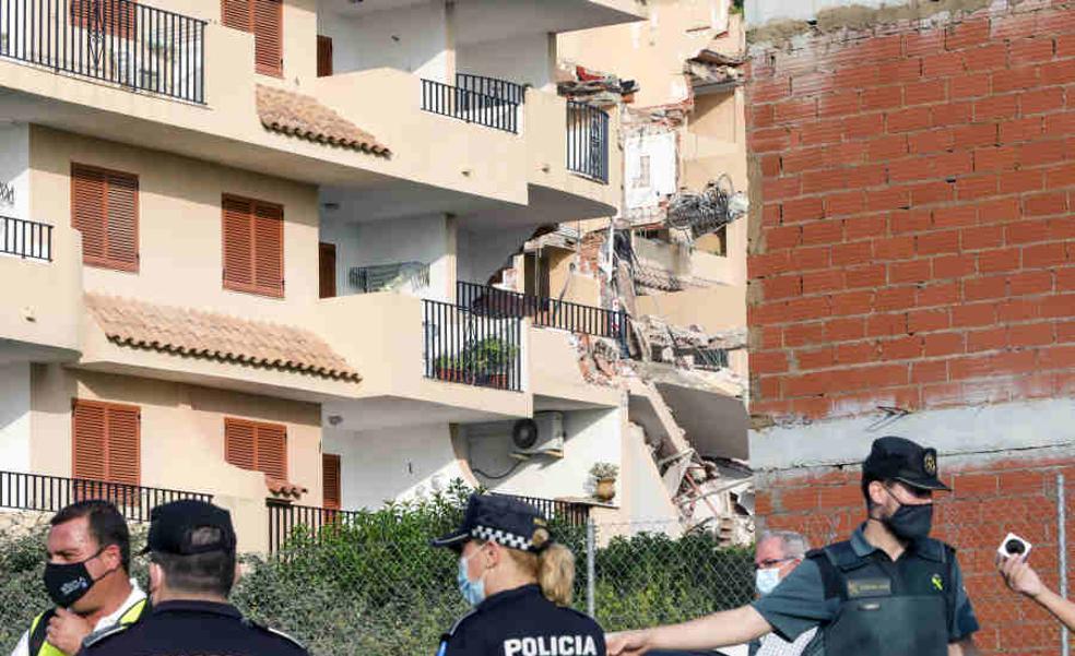 Una deficiente cimentación en uno de los muros, posible causa del derrumbe de Peñíscola