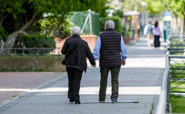 Dos jubilados pasean por un parque. /EUROPA PRESS
