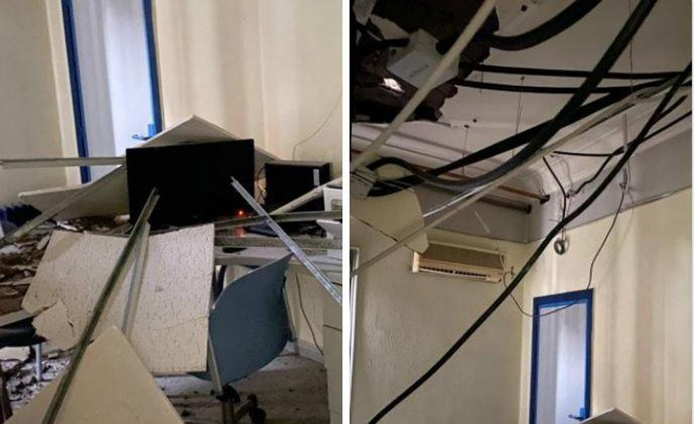Se derrumba el techo de una de las consultas del centro de salud 9 d'Octubre de Castellón
