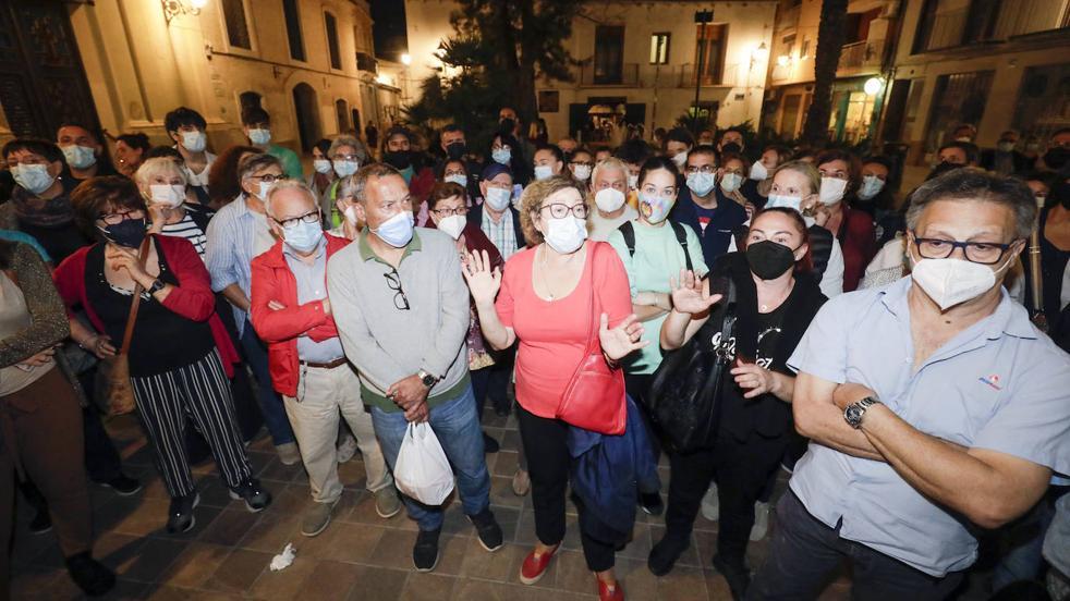 Protesta vecinal contra el botellón en Benimaclet