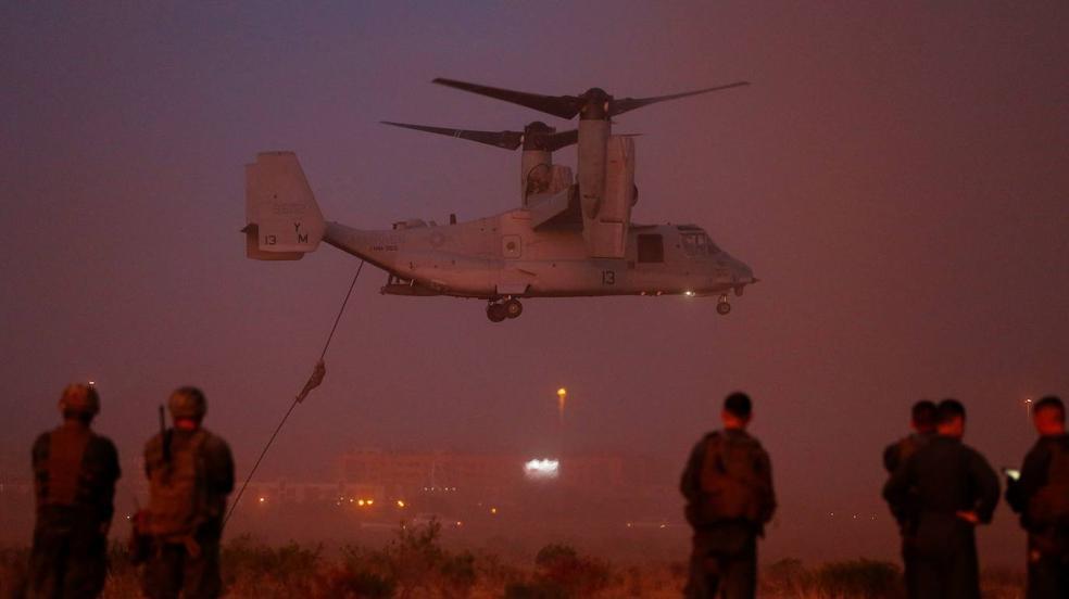 Los Marines de Estados Unidos en las maniobras de los boinas verdes españoles de Rabasa
