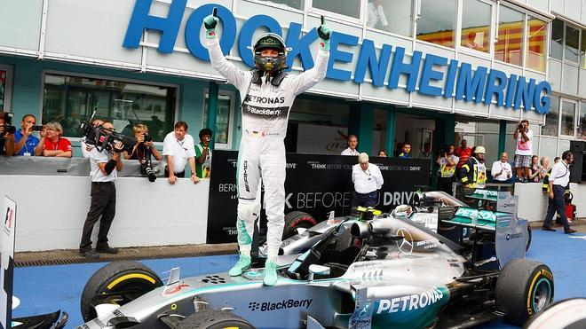 Rosberg, el 'káiser' de Hockenheim