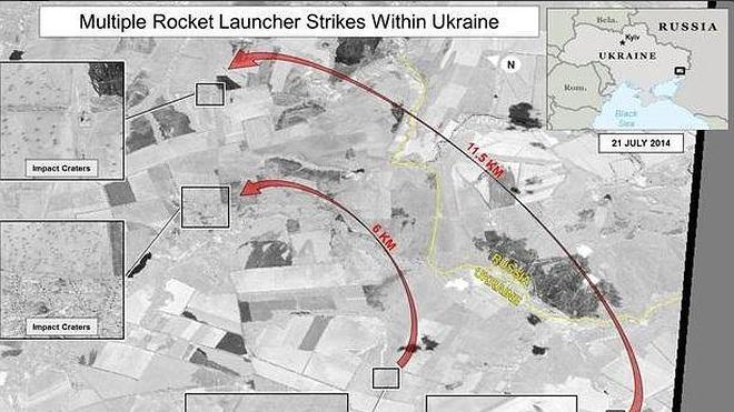 EE UU revela imágenes para probar que Rusia ataca a Ucrania desde su territorio