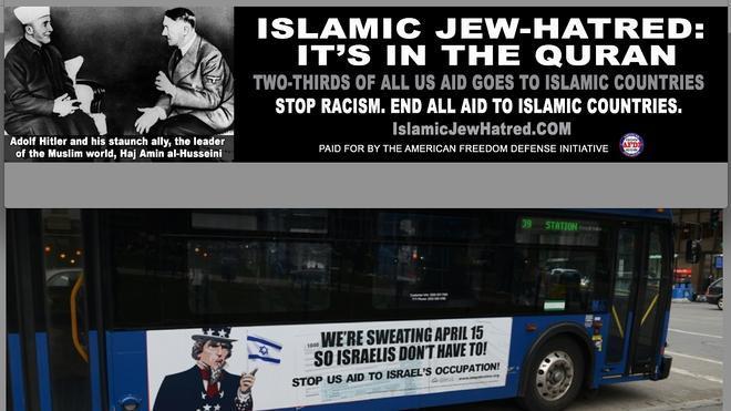Indignación en Nueva York por una campaña contra el islam en el transporte público