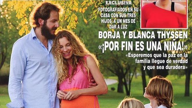 Por fin una niña para Borja Thyssen y Blanca Cuesta
