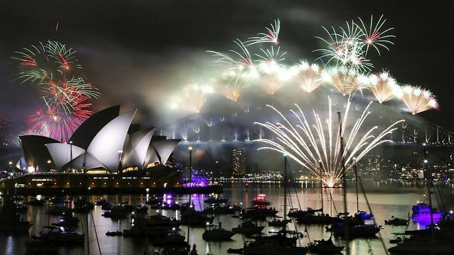 Las islas del Pacífico Sur dan la bienvenida al 2015
