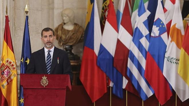 Felipe VI resalta que España ha vivido «sus mejores años» dentro de la UE