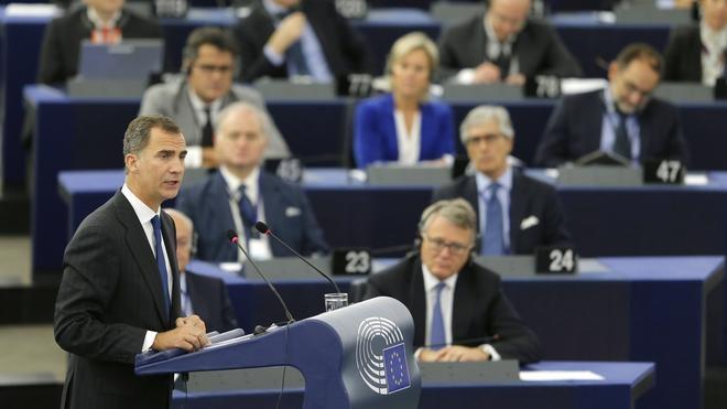 Felipe VI, ante la UE: «Tengan la seguridad de poder contar con una España unida y orgullosa de su diversidad»