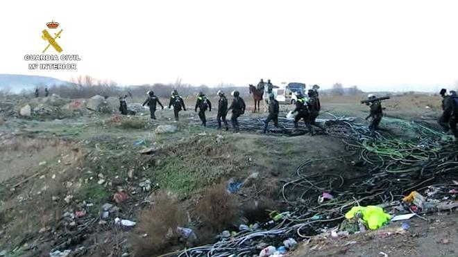 Intervenidas más de 15 toneladas de cableado de cobre robado en instalaciones estratégicas