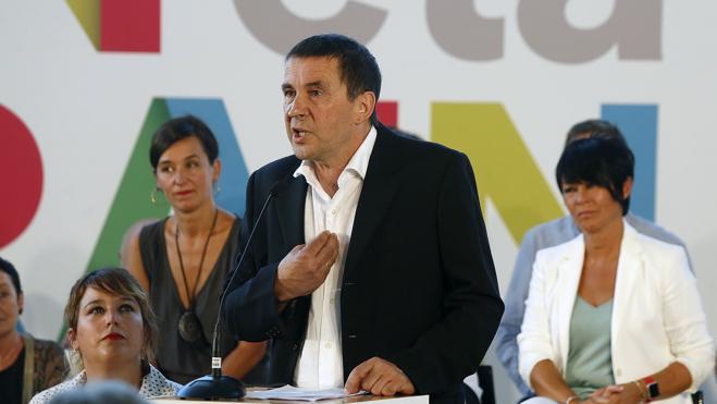 Otegi: «Soy el candidato de EH Bildu digan lo que digan los tribunales»