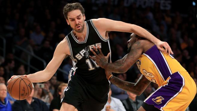 Pau Gasol brilla en la victoria de los Spurs ante los Lakers