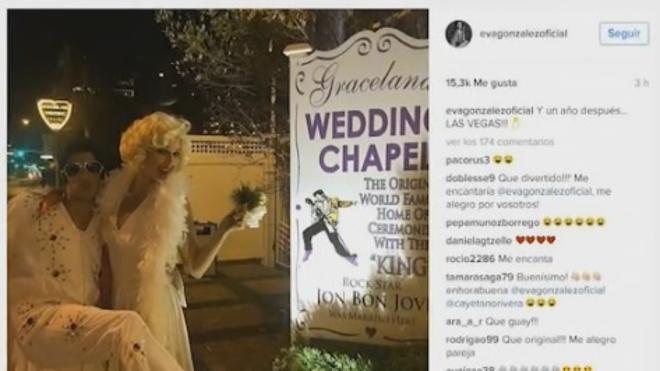 Cayetano Rivera y Eva González se casan de nuevo en Las Vegas